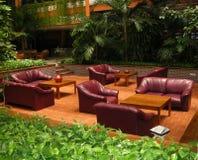 Sala de estar do hotel imagem de stock