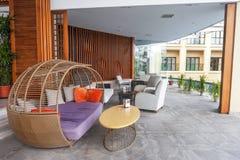 Sala de estar do hotel imagem de stock royalty free