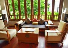 Sala de estar do hotel Foto de Stock Royalty Free