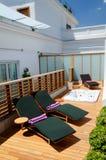 Sala de estar do terraço do hotel Imagens de Stock