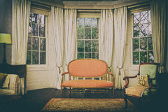 Sala de estar do vintage imagens de stock
