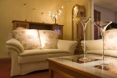 Sala de estar elegante Imágenes de archivo libres de regalías