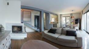 Sala de estar elegante Foto de archivo libre de regalías