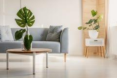 Sala de estar elegante en estilo escandinavo mínimo imagen de archivo libre de regalías