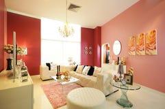 Sala de estar elegante moderna Foto de archivo libre de regalías