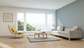 Sala de estar en casa moderna Fotografía de archivo