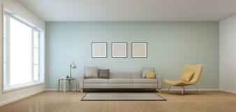 Sala de estar en casa moderna Foto de archivo libre de regalías