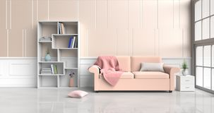 Sala de estar en colores pastel fotografía de archivo