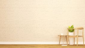 Sala de estar en el apartamento o el otro sitio - diseño interior para las ilustraciones - representación 3D ilustración del vector