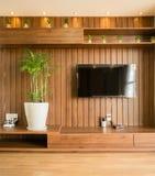 sala de estar en el diseño del hogar de arquitectura foto de archivo