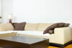 Sala de estar en estilo diseñado moderno Imágenes de archivo libres de regalías