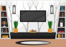 Sala de estar en estilo minimalista fotografía de archivo libre de regalías