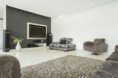 Sala de estar en estilo moderno Imagenes de archivo