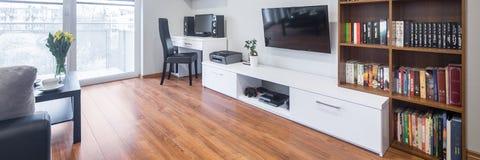 Sala de estar en estilo moderno foto de archivo