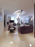 Sala de estar en estilo neoclásico fotografía de archivo