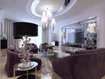 Sala de estar en estilo neoclásico imágenes de archivo libres de regalías