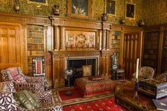 Sala de estar en la casa victoriana de Charlecote Fotos de archivo libres de regalías
