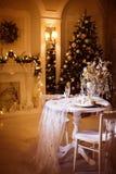 Sala de estar en tiempo de la Navidad Fotografía de archivo