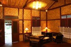 Sala de estar en una cabaña Foto de archivo libre de regalías