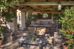 Sala de estar exterior del país del vintage Imagen de archivo libre de regalías