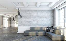 Sala de estar gris del sofá Fotografía de archivo