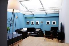 Sala de estar hermosa con el tragaluz Imagen de archivo