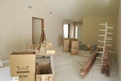 Sala de estar inacabada Fotografía de archivo libre de regalías