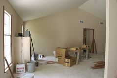 Sala de estar inacabada Imagen de archivo libre de regalías