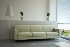 Sala de estar interior stock de ilustración