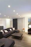 Sala de estar interior, ancha Imagen de archivo libre de regalías