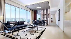 Sala de estar interior de lujo libre illustration
