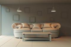 Sala de estar interior en estilo del bosquejo Fotografía de archivo libre de regalías