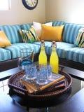 Sala de estar interior (foco em bebidas) Imagens de Stock