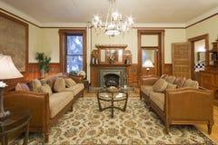 Sala de estar interior histórica Fotos de archivo libres de regalías