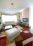 Sala de estar lujosa Fotografía de archivo libre de regalías