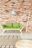 Sala de estar de madeira verde imagens de stock royalty free