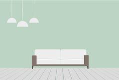 Sala de estar minimalista Fotos de archivo libres de regalías
