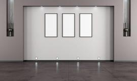 Sala de estar minimalista vacía ilustración del vector