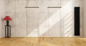 Sala de estar minimalista vacía libre illustration