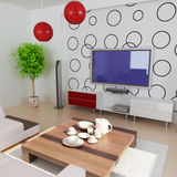 Sala de estar moderna Imágenes de archivo libres de regalías