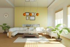 Sala de estar moderna Fotos de archivo libres de regalías
