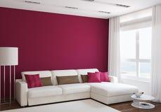 Sala de estar moderna stock de ilustración