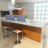 sala de estar moderna 3d stock de ilustración