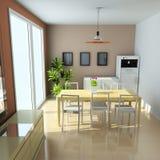 sala de estar moderna 3d ilustración del vector