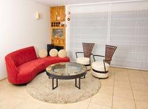 Sala de estar moderna Imagen de archivo libre de regalías