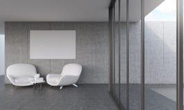 Sala de estar moderna con el cartel libre illustration