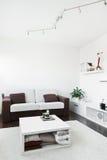 Sala de estar moderna con el sofá Foto de archivo