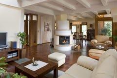 Sala de estar moderna con estilo. imágenes de archivo libres de regalías