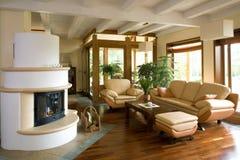 Sala de estar moderna con estilo. imagen de archivo