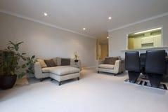 Sala de estar moderna con muebles contemporáneos Fotos de archivo